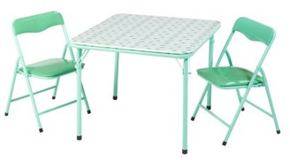 American Kids Cleo Metal Folding 3 Piece Table and Chair Set