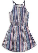 Ella Moss Girl's Jaya Pom-Pom Voile Dress
