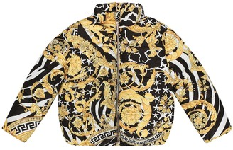 Versace Kids Printed down jacket