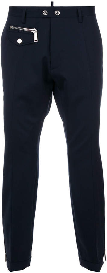 DSQUARED2 zip-embellished trousers
