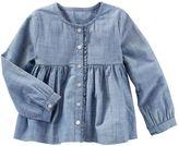 Osh Kosh Toddler Girl Chambray Empire Waist Button-Down Shirt