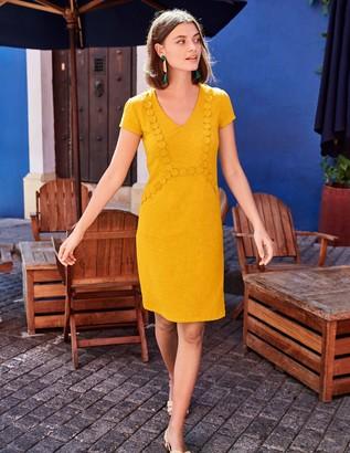 Saskia Jersey Trim Dress