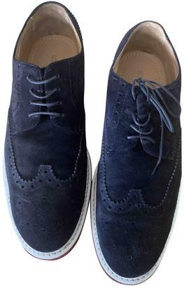 Louis Vuitton Navy Leather Lace ups