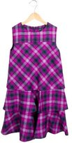Oscar de la Renta Girls' Wool Plaid Dress w/ Tags