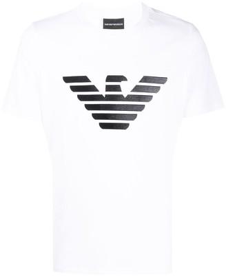 Emporio Armani large logo T-shirt