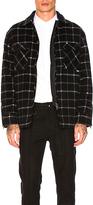 Zanerobe Rugger Plaid Shacket in Black. - size L (also in M,S,XL)