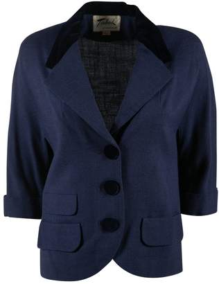 N. Non Signé / Unsigned Non Signe / Unsigned \N Blue Linen Jackets