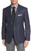 JB Britches Men's Classic Fit Check Wool Sport Coat