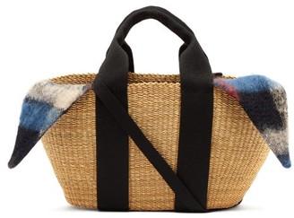 Muun George Woven Straw And Wool Basket Bag - Womens - Black Multi