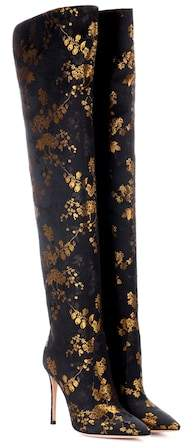 Gianvito Rossi Rennes jacquard over-the-knee boots