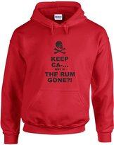 Brand88 Why Is The Rum Gone?!, Printed Hoodie - XL