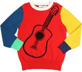 Stella McCartney Guitar Printed Knitted Cotton Sweater