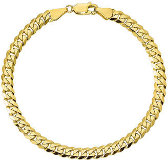 FINE JEWELRY 10K Gold Solid Curb Chain Bracelet