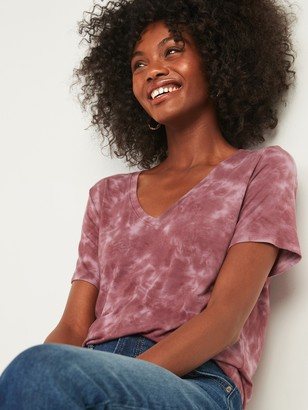 Old Navy Luxe Tie-Dye V-Neck Tee for Women