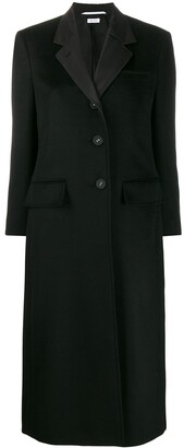 Thom Browne Single-Breasted Mid-Length Coat