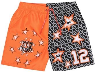 Dolce & Gabbana Kids Printed swim trunks