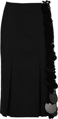 Prada Embellished Longuette Skirt