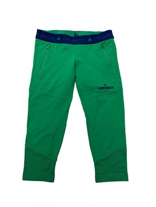 adidas Green Polyester Trousers