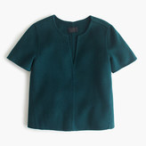 J.Crew Collection double-faced cashmere top