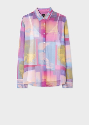 Paul Smith Women's Multi-Coloured 'Space Photos' Print Shirt