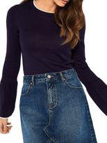 Miss Selfridge Poet Sleeve Crewneck Sweater