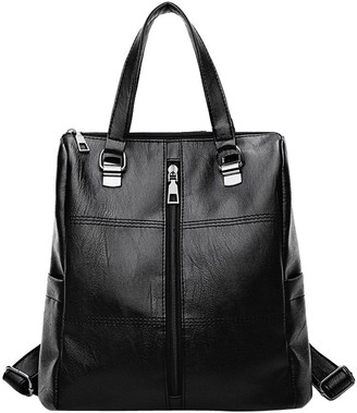 Sonnena Bags Clearence!Sonnena Womens Leather Backpack School Rucksack - Girls Small College Shoulder Satchel Travel Shoulder Bags Vintage Retro Elegant Holiday Purse Tote Bag Handbags Black