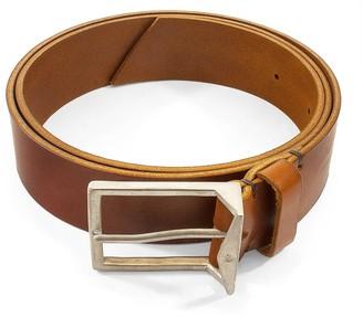 Anchor & Crew Tan Brown Original Warwick Leather & Nickel Belt