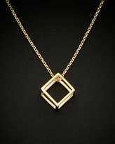 Italian Gold 14K 3D Cube Adjustable Necklace