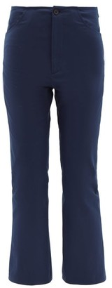 Connolly - Mid-rise Cropped Kick-flare Cotton Trousers - Navy