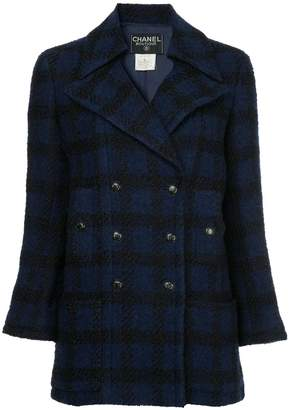 Chanel Pre-Owned checked double breasted jacket