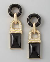 Rachel Zoe Square Drop Earrings, Black