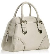 white leather 'Signoria' bowler bag