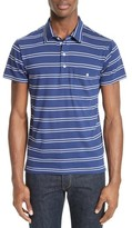Todd Snyder Men's Fine Stripe Double Face Polo