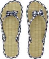 Accessorize Gingham Seagrass Flip Flop