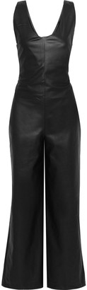 Each X Other Faux Leather Wide-leg Jumpsuit