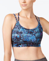 Gaiam Liv Printed Strappy-Back Medium-Support Sports Bra
