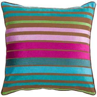 Surya Velvet Stripe 18x18x0.25 Blue Pillow Cover