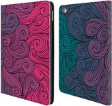 Head Case Designs Vivid Swirls Leather Book Wallet Case Cover for