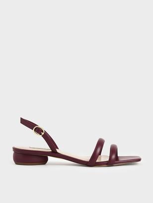 Charles & Keith Tubular Slingback Sandals