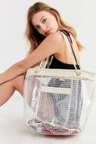 Urban Outfitters Grid Plastic Bucket Tote Bag