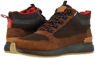 Toms Skully (Waterproof Brown Distressed Leather/Mesh) Men's Slip on Shoes