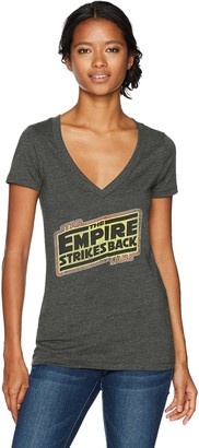 Star Wars Women's Empire Strikes Back Logo V-Neck Graphic T-Shirt