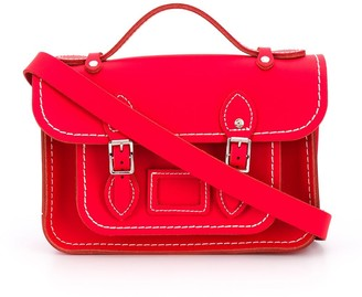 COMME DES GARÇONS GIRL Contrast Stitching Leather Satchel