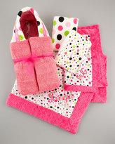 Swankie Blankie Dot Hooded Towel, Personalized