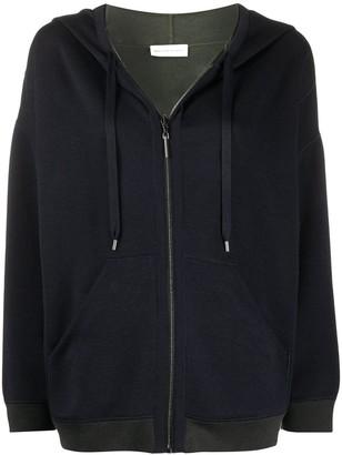 Maison Ullens Contrast-Trimmed Zip-Up Hoodie