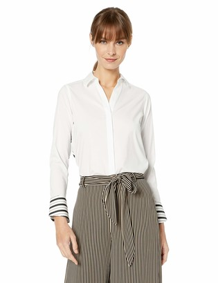 Foxcroft Women's Petite Kyla Stretch Stripe Combo