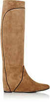 Lanvin Women's Hidden-Wedge Knee Boots-Beige, Tan