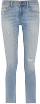 Rag & Bone The Dre Capri Distressed Mid-rise Slim-leg Jeans
