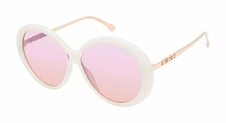 Sam Edelman Women's SE175 Iconic Round Sunglasses with 100% UV Protection