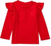 Ralph Lauren Ruffled Cotton-Blend Top
